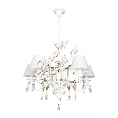 Люстра Серия: Астра 5 ламп белая