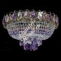 Катерина 1- 3 -5 ламп Сиренево-розовая