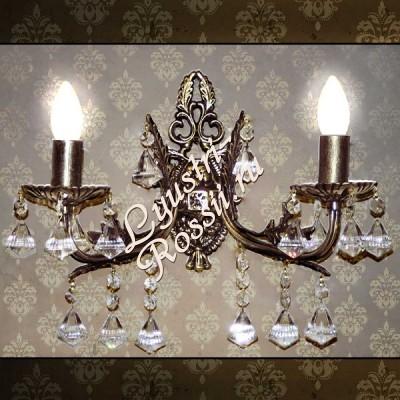 Бра Бронза 2 лампы № 3