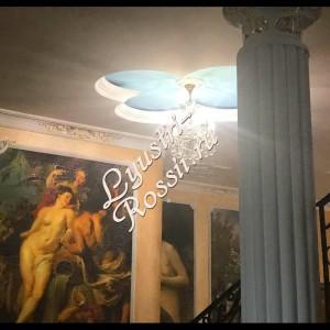 Бронза  4 лампы Журавлик