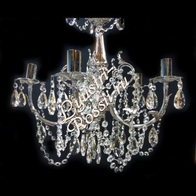 Латунь 5 ламп Серебро