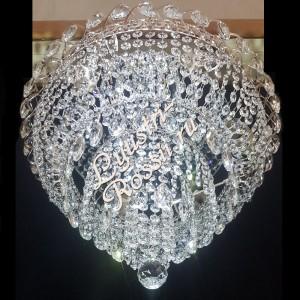 "Хрустальная потолочная люстра ""Торжок 6 ламп"" с зеркалом"