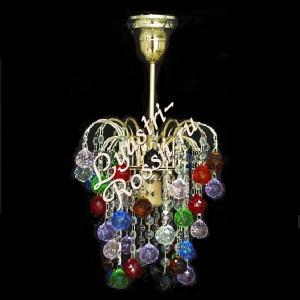 Зима 1 лампа Шары разноцветные